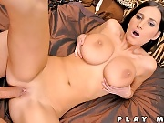 Annakinova sucks a huge dong then gets her mega 36ff tits fucked hard in these vids