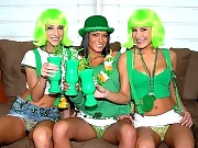 Devi and her girls celebrate st patty in these amazing 3some vids