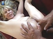 Blonde mom gets ass fingered and rimmed